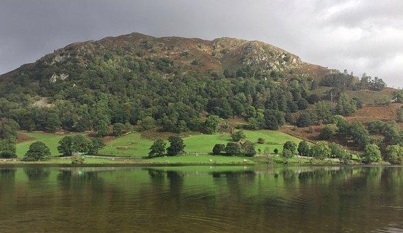 Lake District, Mountain, English, Countryside, Lake