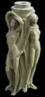 Figures, Fountain Figures, Female, Women, Naked