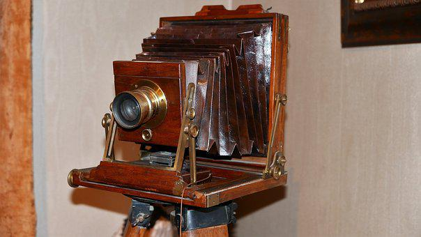 Photo Camera, Historical, Antique, Photography, Old