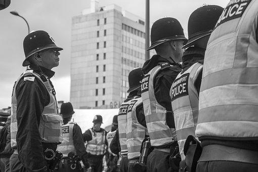 Police, Demonstration, Protest, Crime, Security