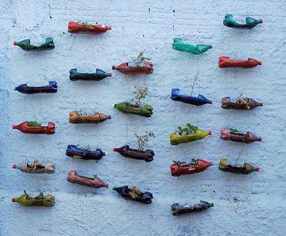 Wall, Vessels, Recycled, Boats, Landscape, Garnish