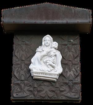 Maria, Wall Decoration, White, Faith, Holy, Religion