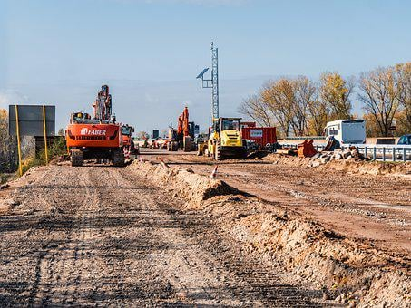 Site, Highway, Renewal, Construction Work