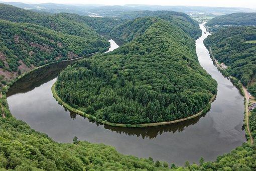 Saar Loop, Saar, River, Saarland, Viewpoint, Forest