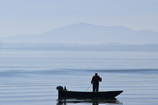 Umbria, Trasimeno, Fisherman, Lake, Water