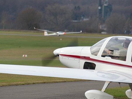 Aircraft, Glider, Airport, Segelflugsport, Gliding