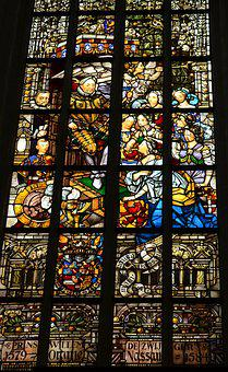 Church Window, Stained Glass, Dom, Amsterdam