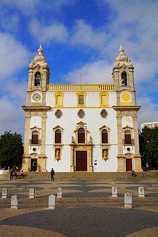 Faro, Portugal, Algarve, Bone Chapel, Church, Blue Sky