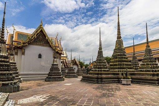 Ruins, Bangkok, Blue Sky, Thailand, Old, Temple