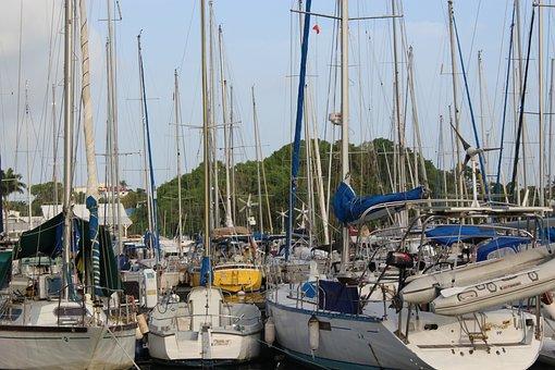 Pots, Boats, Water, Port, Many, Great, Boat, Dana