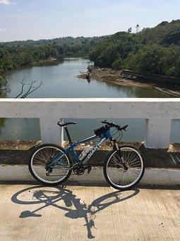 Bicycle, River, Bridge, Bike, Cyclist, Mtb, Biking