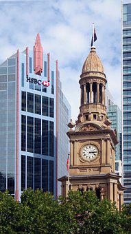 Sydney, Australia, Cbd, Hsbc, Building, Tall