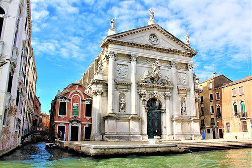 Venice, Italy, Architecture, Church, World, Buildings