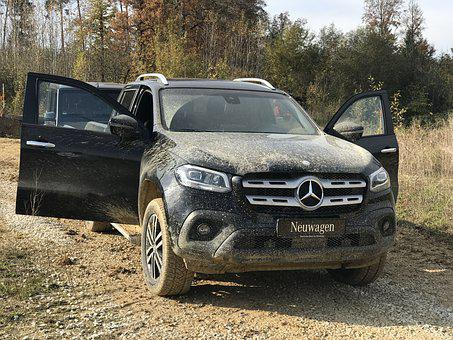 Mercedes–benz, Xklasse, New Cars, Offroad, Dirty, Muddy