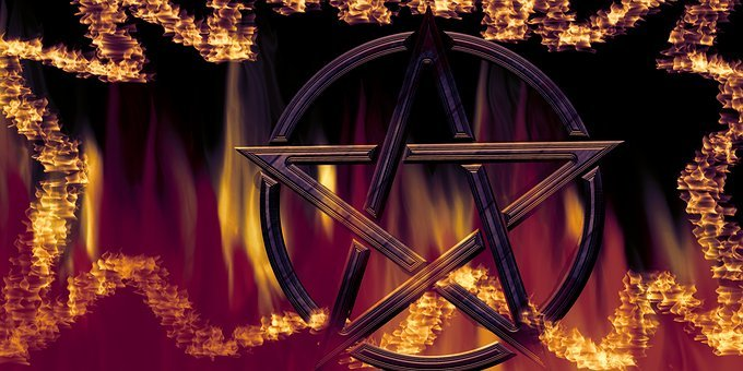 Pentacle, Characters, Magic, Symbol, Background