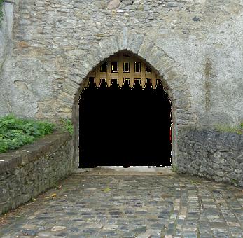 Goal, Input, Portcullis, Old Gate, Metal, Old, Castle