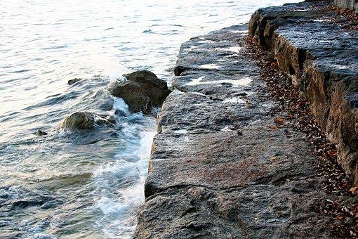 Dawn, Light, Lake, The Waves, Water, Www, Moisture
