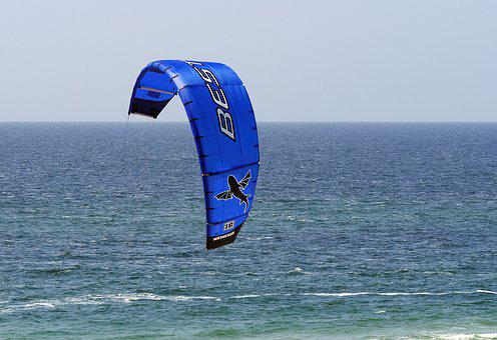 Kytesegel, North Sea, Horizon, Beach, Water Sports