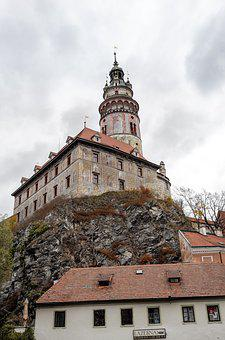 český Krumlov, Czech Republic, Tower, Old Town, City