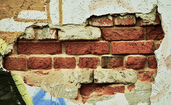 Wall, Hauswand, Brick, Plaster, Facade, Structure