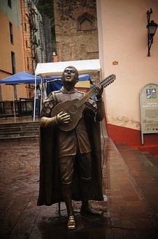 Statue, Singer, Music, Romantic, Mexico, Copper, Song