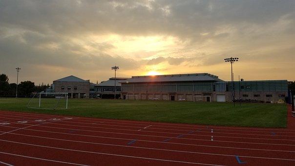 Sunset, Dawn, Dusk, Field, Shanghai, School, Sas, China