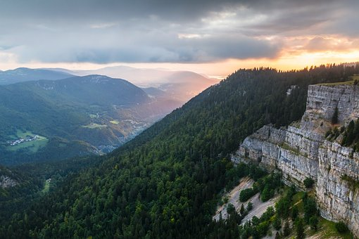 Creux Du Van, Sunrise, Cliff, Rock Boiler, Spectacular
