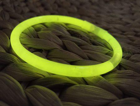 Bracelet, Phosphorescent, Yellow, Light, Neon, Toy