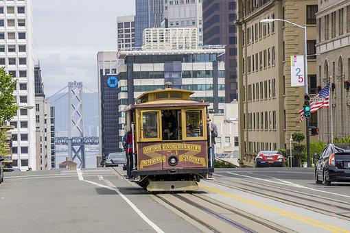 Cable Car, Trolley, Cable, Transport, Tourism, Travel