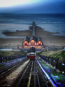 Funicular, Tram, Beach, Holiday, Transport, Travel
