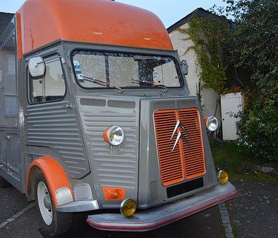 Old Vehicle, Truck Citroen, Collection, Headlights