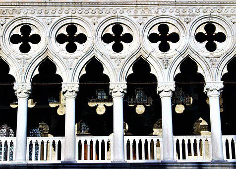 Venice, Italy, The Doge's Palace, Architecture, Facade