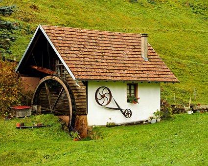 Mill, Waterwheel, Old, Water Power, Water Mill, Water