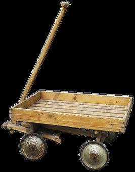Stroller, Handcart, Cart, Wood Car, Wooden Cart
