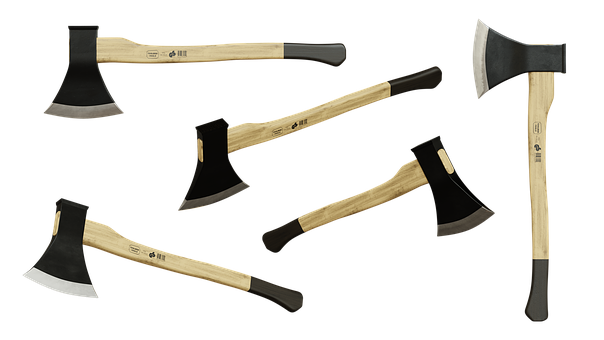 Axe, Ax, Wood Style, Split, Isolated, 3d Blender