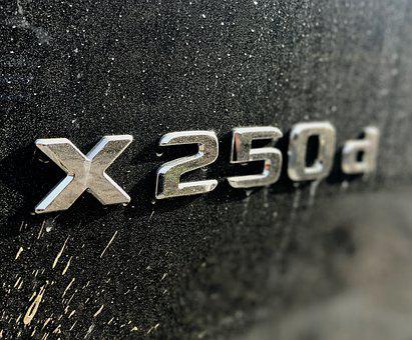Mercedes, Xklasse, X250d, New Cars, Dirty, Emblem