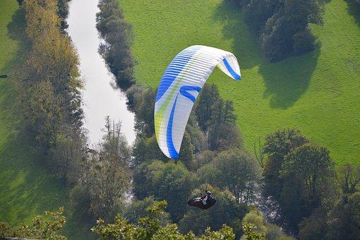 Paragliders, Practice In Free Flight, Wind, Air