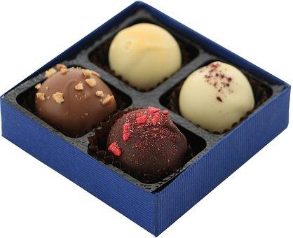 Truffles, Chocolate, Dessert, Food, Dark, Candy