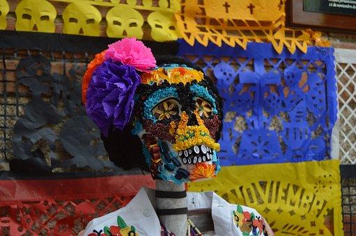 Skull, Day Of The Dead, Life, Crafts, Skeleton