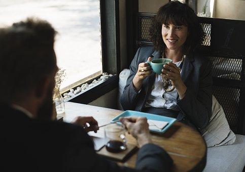 Cup, Restaurant, Drinks, Business, Break, Smile