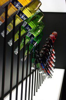 Bottles, Alcohol, Color, Decoration, Cocktails, Bols