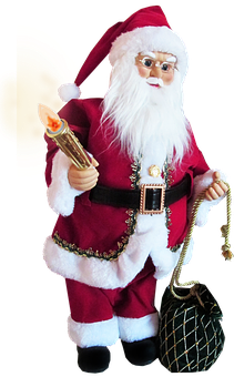 Father Christmas, Holding Candle, Decoration