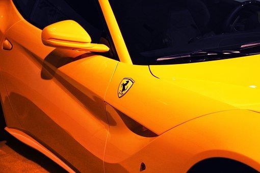 Door, Exotic Cars, Ferrari, Rear View Mirror