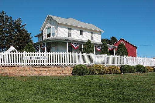Iowa, Field Of Dreams, House, Movie Set, Baseball