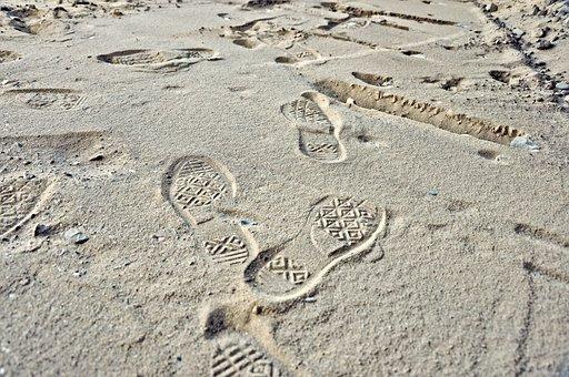 Footprint, Print, Step, Profile, Sole, Track, Trace