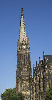 Leipzig, Church, Architecture, Building, Germany