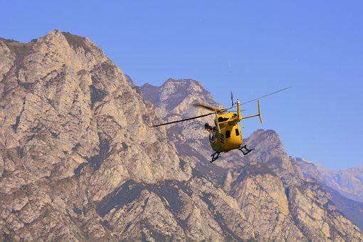 Helicopter, Takeoff, Rescue, Emergency, Mountain