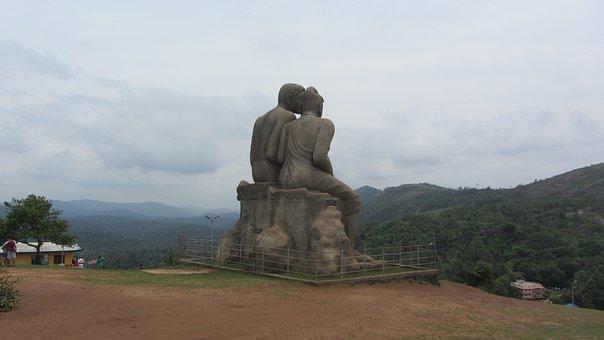 Kerala, Idukki, Ramakkalmedu, Statue, Tribal, Hill