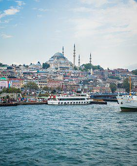 Istanbul, Blue Mosque, Turkey, Blue, Islam, Dome