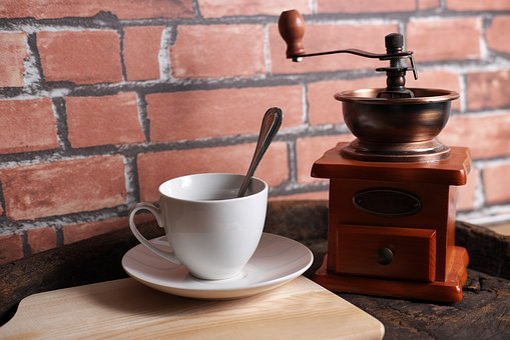 Coffee, Retro, Black, Espresso, Matchine, Brick Wall